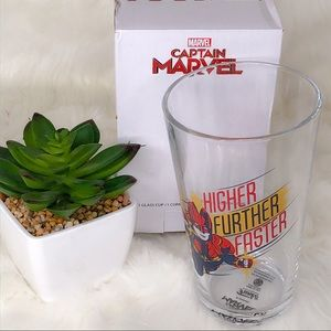 Captain Marvel Pint Glass Marvel Collector Corps